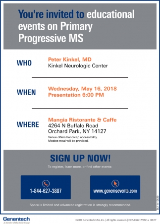 You're Invited To Educational Events On Primary Progressive MS