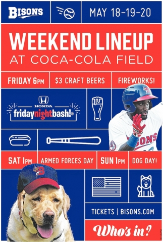 Weekend Lineup At Coca-Cola Field