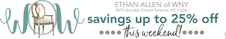 Savings Up To 25% Off