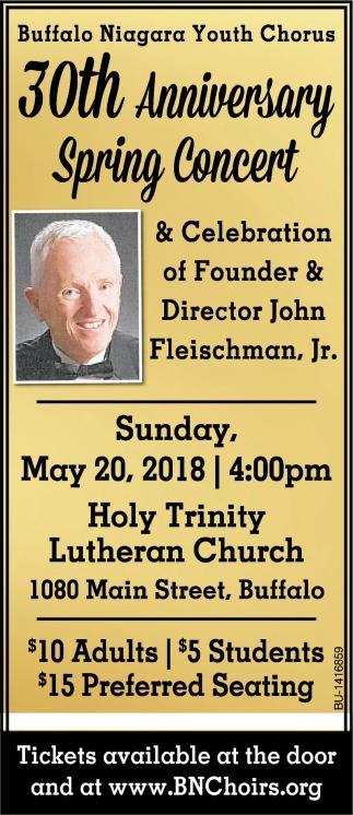 30th anniversary spring concert holy trinity lutheran church
