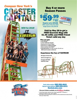 Buy 4 Or More Season Passes Only $59.99