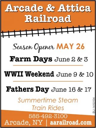 Summertime Steam Train Rides