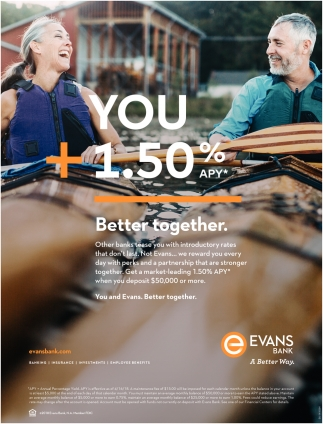 You + 1.50% APY = BETTER TOGETHER.