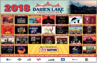 Every Paid Ticket Includes Free Same Day Admission To Darien Lakes Theme Park!