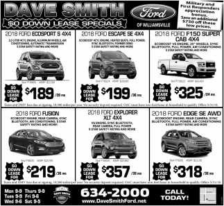 $0 Down Lease Specials