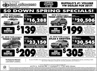 Buffalo's #1 Volume VW Dealer for 2017!