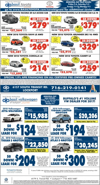 Special 1.9% APR Financing