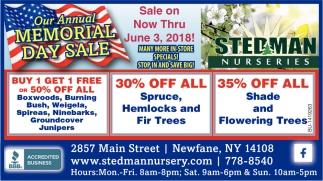 Annual Memorial Day Sale