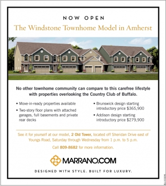 The Windstone Townhome Model In Armherst