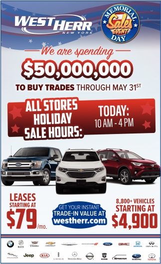 Memorial Sales Event Day