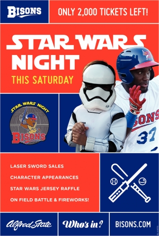 Star Wars Night This Saturday