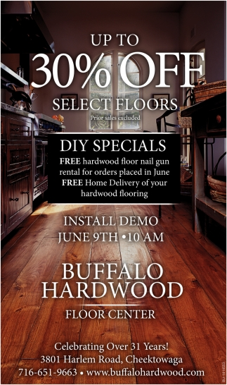 Up To 30% Off Select Floors