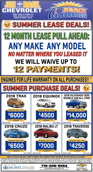 Summer Lease Deals!