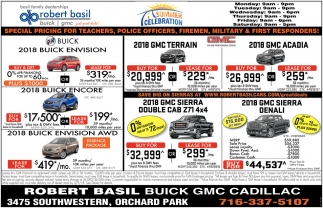 Special Pricing, Robert Basil Buick/GMC/Cadillac, Orchard ...