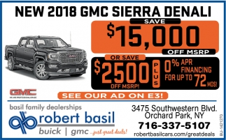 New 2018 GMC Sierra Denali