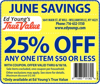June Savings