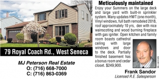 79 Royal Coach Rd., West Seneca