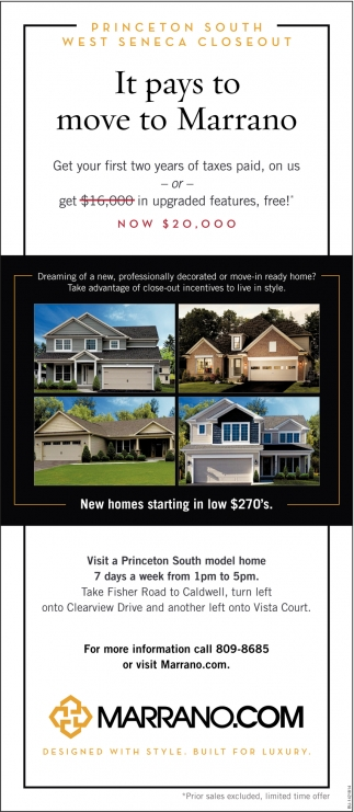 New Homes Starting In Low $270's