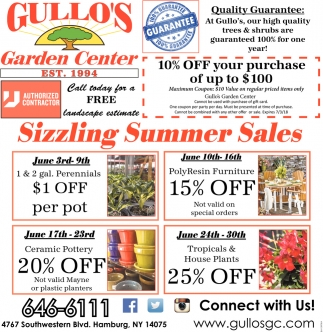 Sizzling Summer Sales