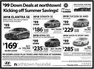 99 Down Deals At Northtown Hyundai Amherst NY