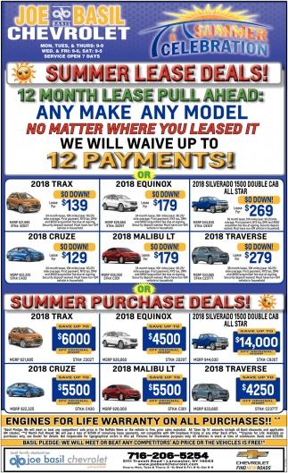 Summer Lease Deals!