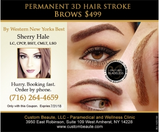 Permanent 3D Hair Stroke