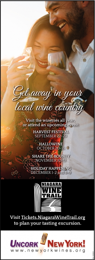 Get Away In Your Local Wine County