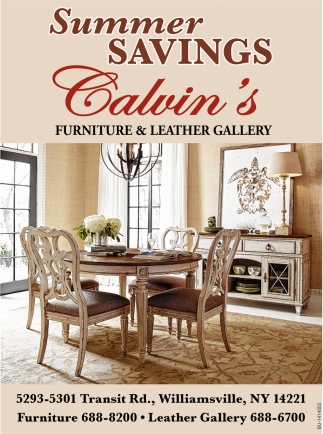 Summer Savings Calvin S Furniture And Leather Gallery Buffalo Ny