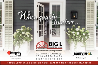 When Quality Matters Big L Windows And Doors Buffalo Ny