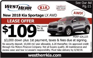 New 2018 Kia Sportage LX AWD