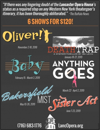 6 Shows For $120!