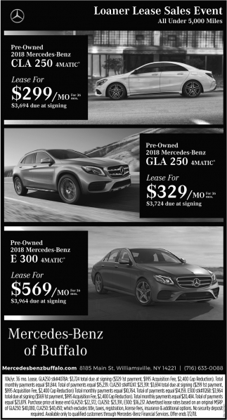 Loaner Lease Sales Event