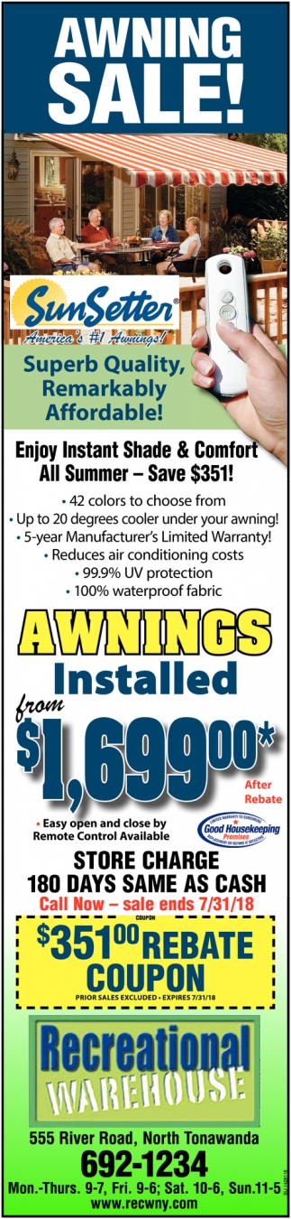 Awning Sale!