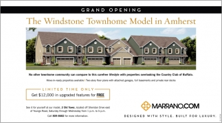 The Windstone Townhome Model In Amherst