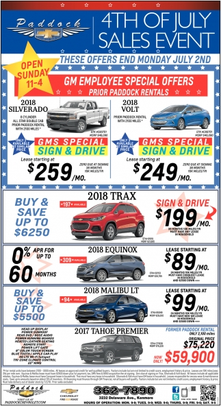 4th Of July Sales Event