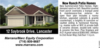 New Ranch Patio Homes
