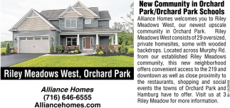 New Community In Orchard Park
