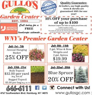WNY's Premier Garden Center
