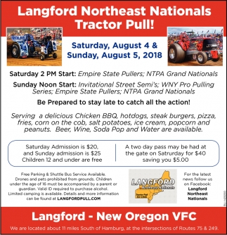 Langford Northeast Nationals Tractor Pull!, Langford Pull