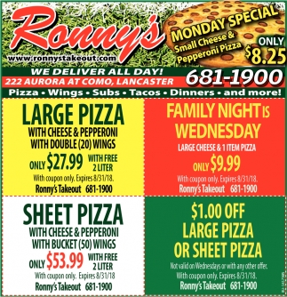 We Deliver All Day!