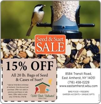 Seed & Suet Sale, Wild Birds Unlimited, Buffalo, NY