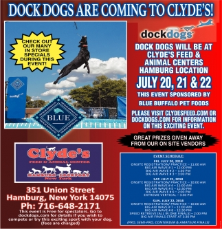Dock Dogs Are Coming To Clyde's