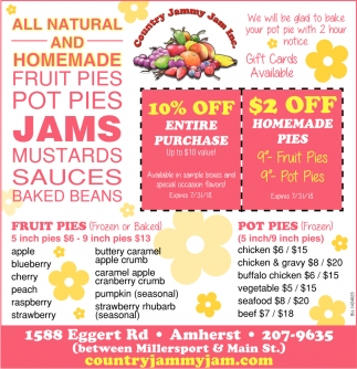 All Natural And Homemade Fruit Pies