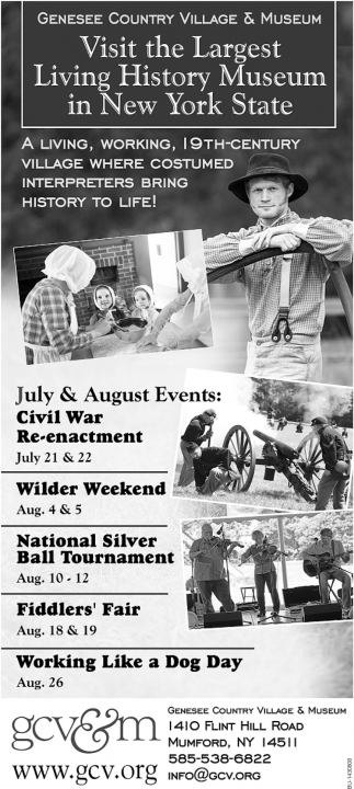 July And August Events