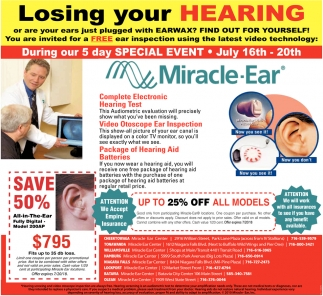 Losing your Hearing?