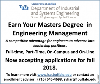 Earn Your Masters Degree In Engineering Management