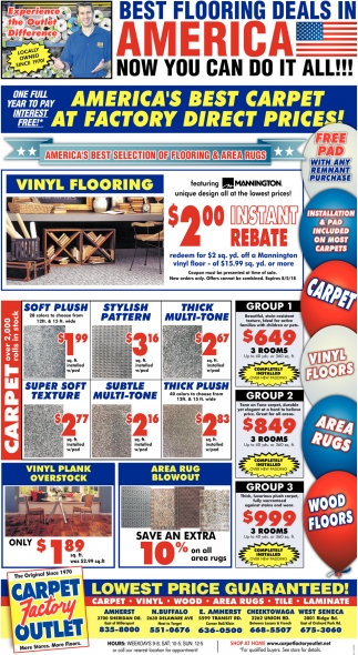 America's Best Carpet At Factory Direct Prices!