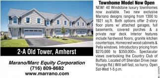 Townhome Model Now Open