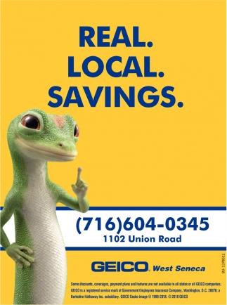 Real, Local, Savings