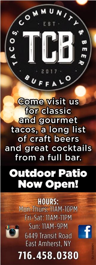 Outdoor Patio Now Open!